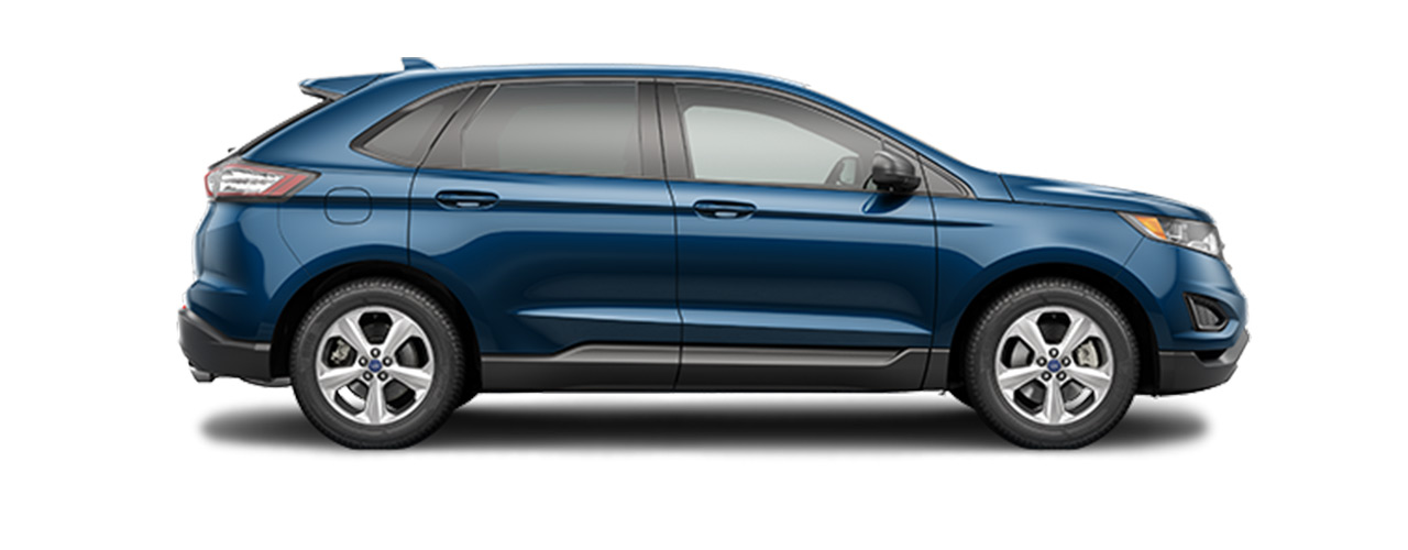 2019 blue Ford Edge for sale at Bill Dube Ford in Dover NH.