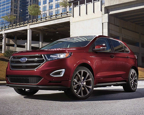 2019 burgundy Ford Edge Sport available at Eide Ford Lincoln in Bismarck.