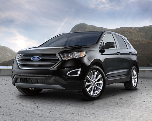 2019 black Ford Edge Titanium available at Eide Ford Lincoln in Bismarck.