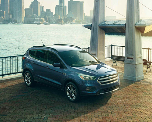 2019 blue Ford Escape SE for sale at Bill Dube Ford in %SEO_CITY.