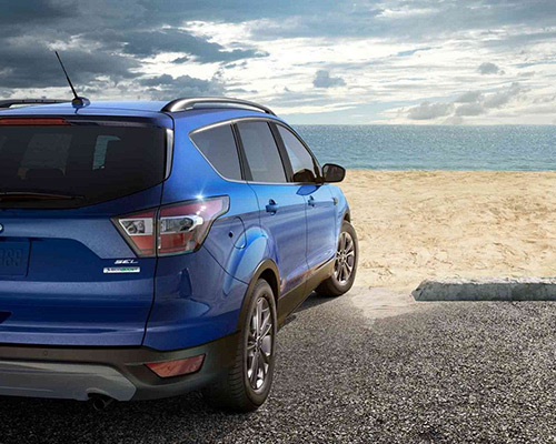 2019 blue Ford Escape SEL for sale at Sayville Ford in Long Island.
