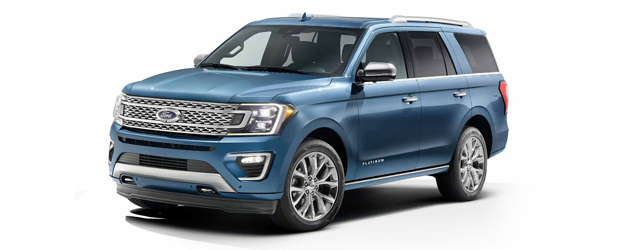 Profile view of the 2019 Ford Expedition for sale here at Marshal Mize Ford in Chattanooga.