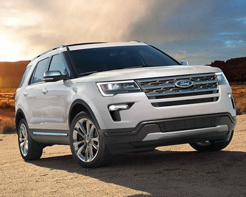 White 2019 Ford Explorer XLT available at Sayville Ford in Long Island.