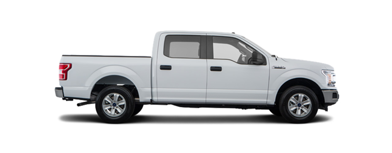 White 2019 Ford F-150 for sale at Sayville Ford in Long Island.