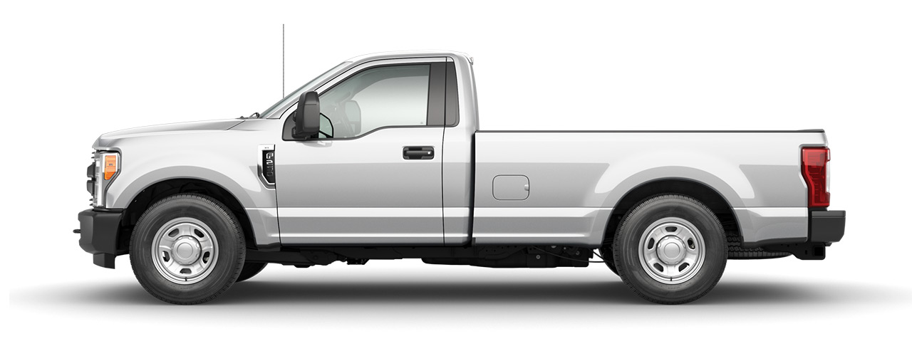 White 2019 Ford F-250 that can be yours at Sayville Ford in Long Island.