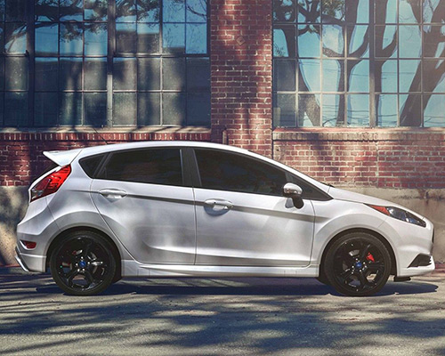 White Ford Fiesta ST waiting for you here at Sayville Ford in Long Island.