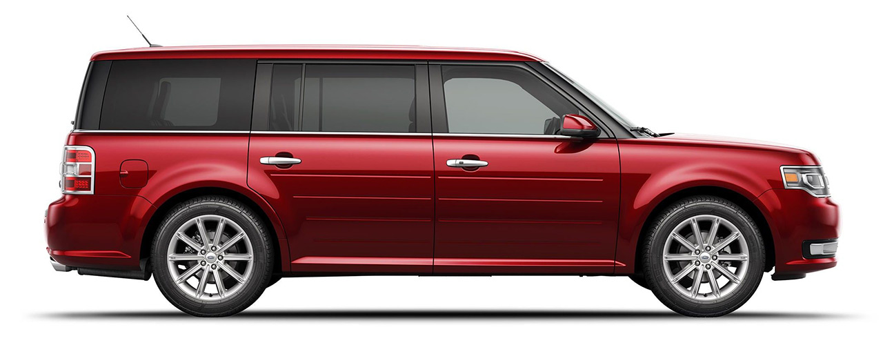 Cherry Red Ford Flex for sale or lease at Sayville Ford in Long Island NY.