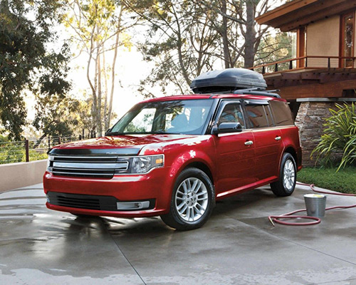Red Ford Flex SEL for sale or lease at Chuck Colvin Ford Nissan in McMinnville.