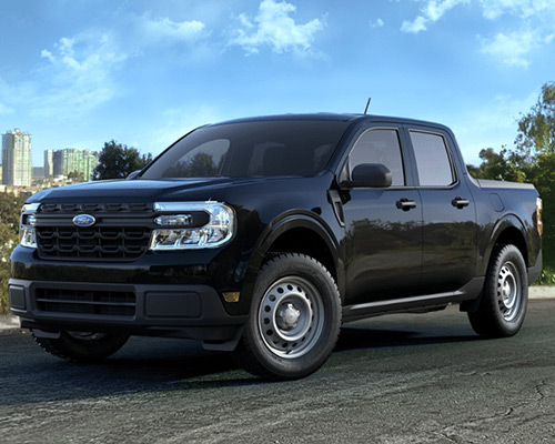 Black Ford Maverick XL available for sale or lease here at Bill Dube Ford in Dover.