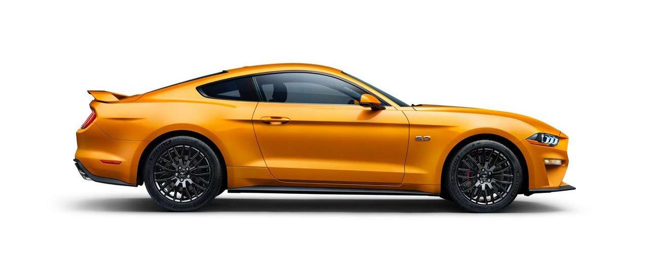 2019 yellow Ford Mustang for sale at Bill Dube Ford in Dover NH.