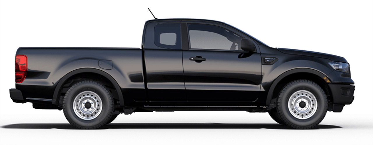 Black Ford Ranger now for sale or lease at Bill Dube Ford in Dover.