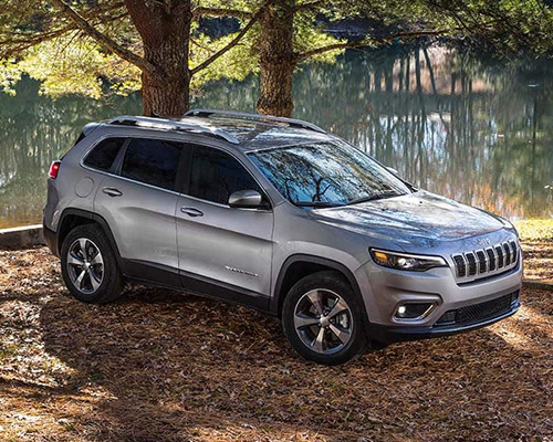 Silver Jeep Cherokee Limited available at Eide Chrysler in Bismarck.