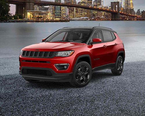 Red Jeep Compass Altitude Available at Eide Chrysler in Bismarck.