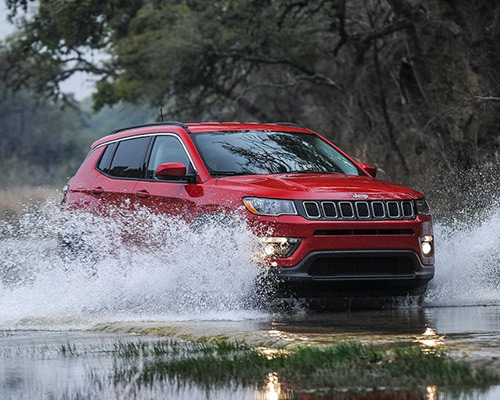 Red Jeep Compass Sport available at Eide Chrysler in Bismarck.