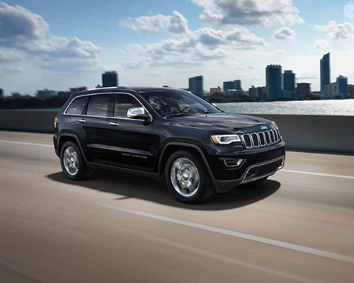 Black Jeep Grand Cherokee Overland available at Bice Motors Inc in Alexander City.