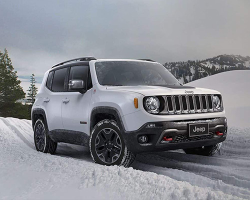 White Jeep Renegade Latitude found at Eide Chrysler in Bismarck ND.