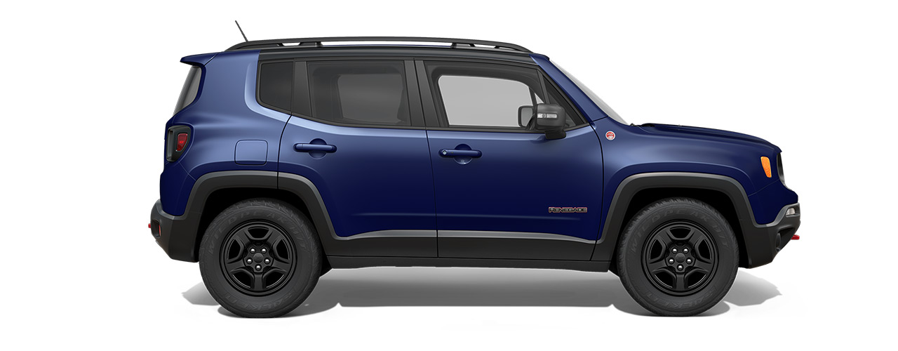 Blue Jeep Renegade available at Eide Chrysler in Bismarck ND.