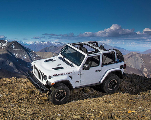 White Jeep Wrangler Rubicon available at Eide Chrysler in Bismarck.