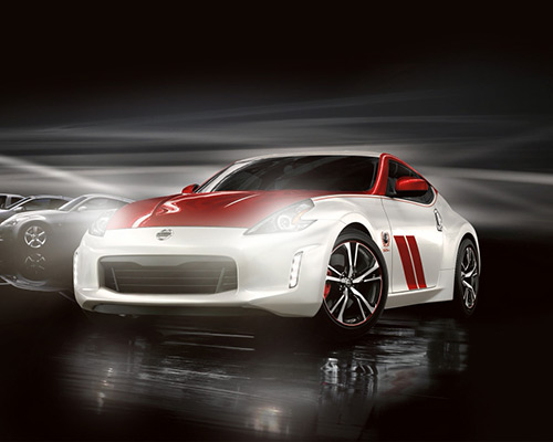 Red and White Nissan 370Z 50th Anniversary Edition for sale or lease at Universal Nissan in Orlando.