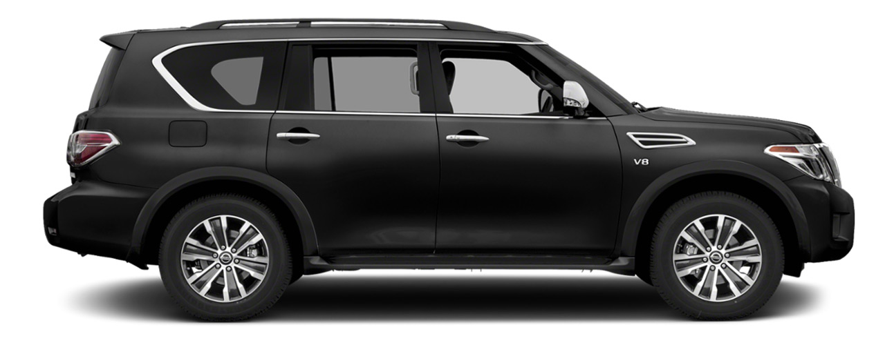 Black Nissan Armada for sale or lease at Boardman Nissan in Youngstown OH.