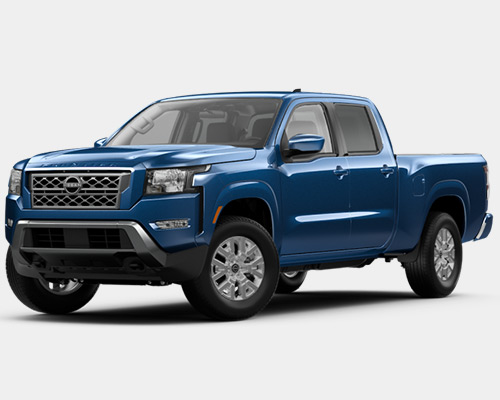 Blue Nissan Frontier SV for sale or lease here at Universal Nissan in Orlando FL.
