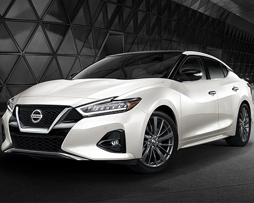 White Nissan Maxima S for sale or lease at Ken Pollock Nissan in Wilkes-Barre.