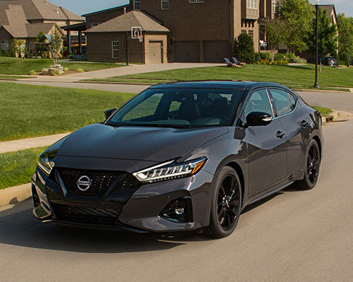 Gun Metal Nissan Maxima SV for sale or lease at Ken Pollock Nissan in Wilkes-Barre.