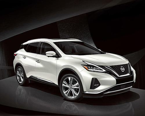 White Nissan Murano SV for sale or lease at Boardman Nissan in Youngstown OH.