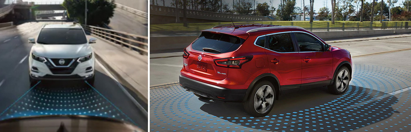 Safety features found in the Nissan Rogue Sport from %DEALRSHIP% in Youngstown.