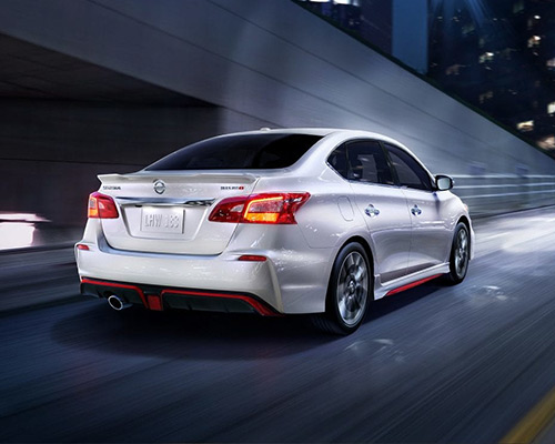 White Nissan Sentra NISMO for sale or lease at Chuck Colvin Ford Nissan in McMinnville.