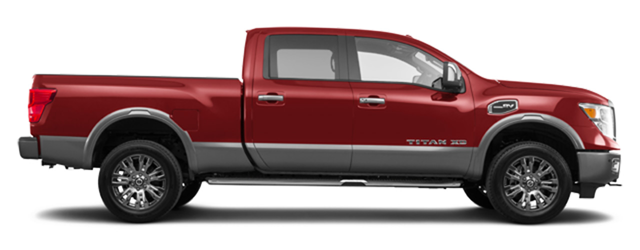 Red Nissan Titan XD for sale or lease in Orlando FL.