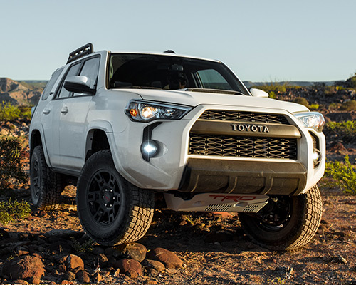 White Toyota 4Runner TRD Pro for sale at Bill Dube Toyota in Dover NH.