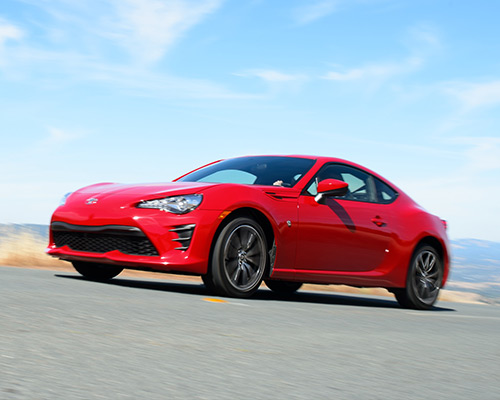 Red Toyota 86 for sale or lease at Westbury Toyota in Westbury.