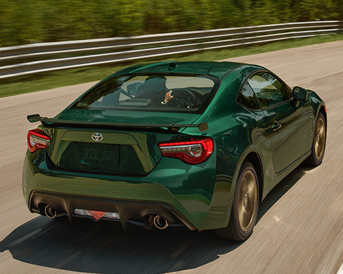 Green Toyota 86 Hakone Edition for sale or lease at Westbury Toyota in Westbury.