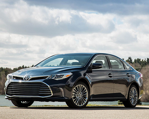 Black Toyota Avalon XSE available now at Westbury Toyota in Westbury.