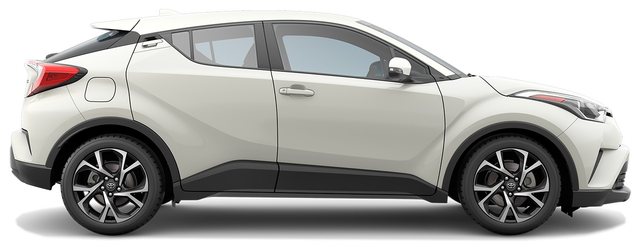 White Toyota C-HR waiting for you at Bill Dube Toyota in Dover NH.
