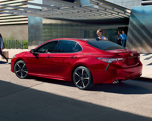 Red Toyota Camry XSE for sale or lease in Westbury here at Westbury Toyota.