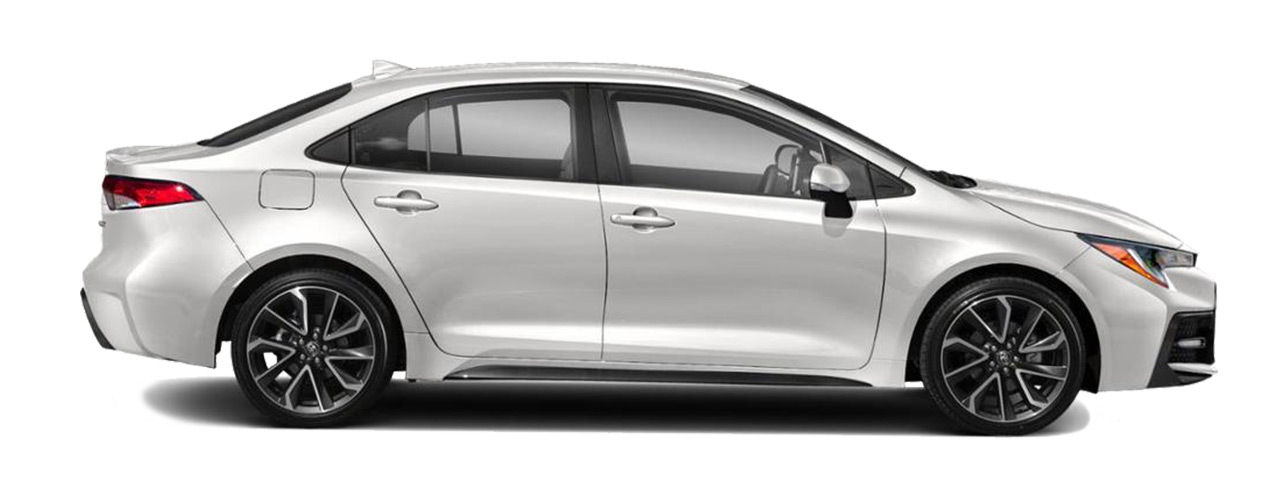Silver Toyota Corolla for sale or lease at Westbury Toyota in Westbury NY.