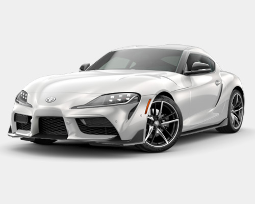 White Toyota GR Supra 2.0 for sale or lease here at Bill Dube Toyota in Dover NH.