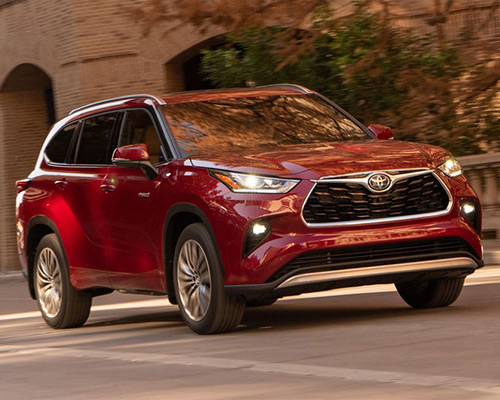 Maroon Toyota Highlander L for sale or lease in Dover at Bill Dube Toyota.