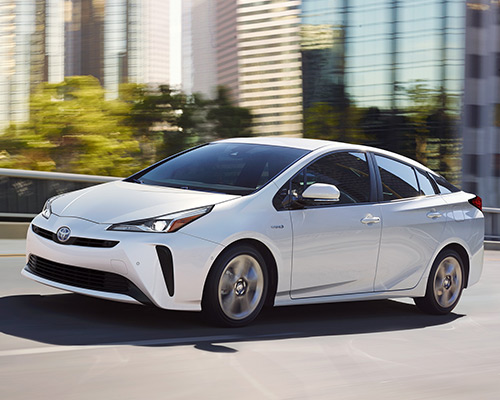 White Toyota Prius Limited for sale or lease at Toyota of Grand Rapids in Grand Rapids.