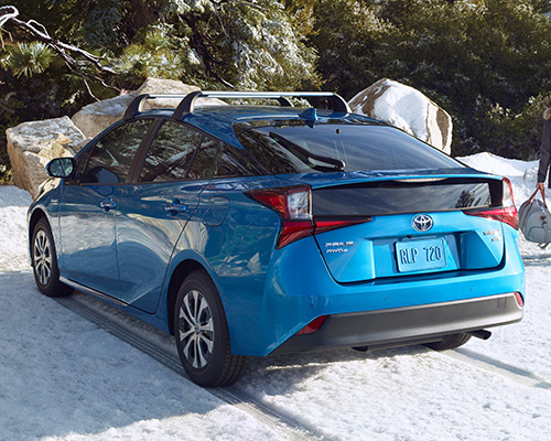 Blue Toyota Prius XLE for sale or lease at Toyota of Grand Rapids in Grand Rapids.