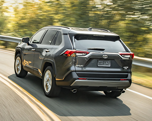 Silver RAV4 Limited for sale or lease at Westbury Toyota in Westbury.