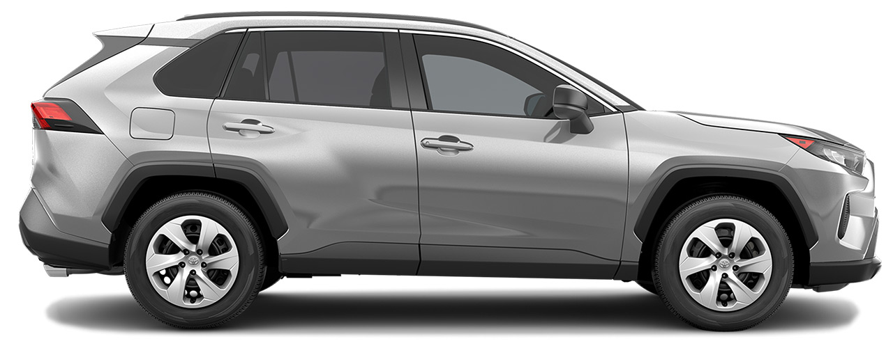 Silver Toyota RAV4 for sale or lease at Toyota of Grand Rapids in Grand Rapids MI.