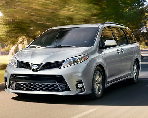 Silver Toyota Sienna LE for sale or lease at Toyota of Grand Rapids in Grand Rapids.