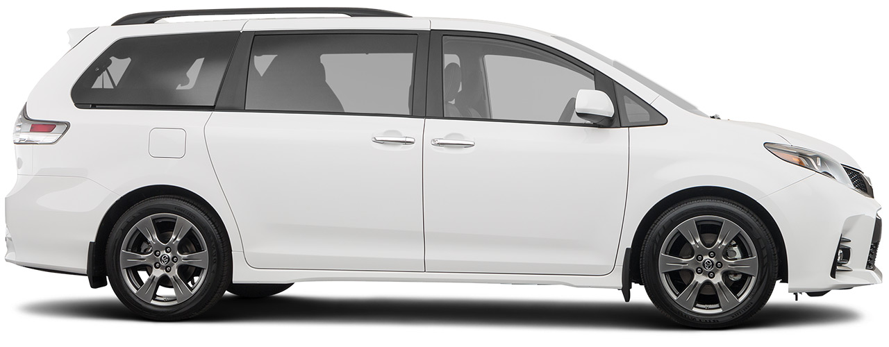 White Toyota Sienna waiting available for purchase or lease at Toyota of Grand Rapids in Grand Rapids MI.