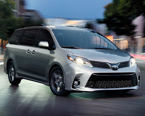 Silver Toyota Sienna SE for sale or lease at Toyota of Grand Rapids in Grand Rapids.