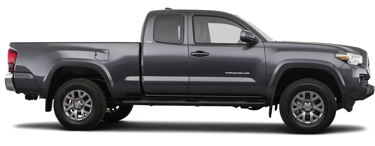 Silver Toyota Tacoma for sale or lease at Bill Dube Toyota in Dover NH.