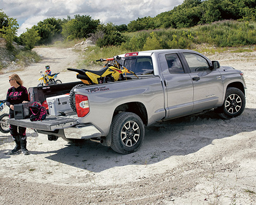 Silver Toyota Tundra SR5 available for sale or lease here at Bill Dube Toyota in Dover.
