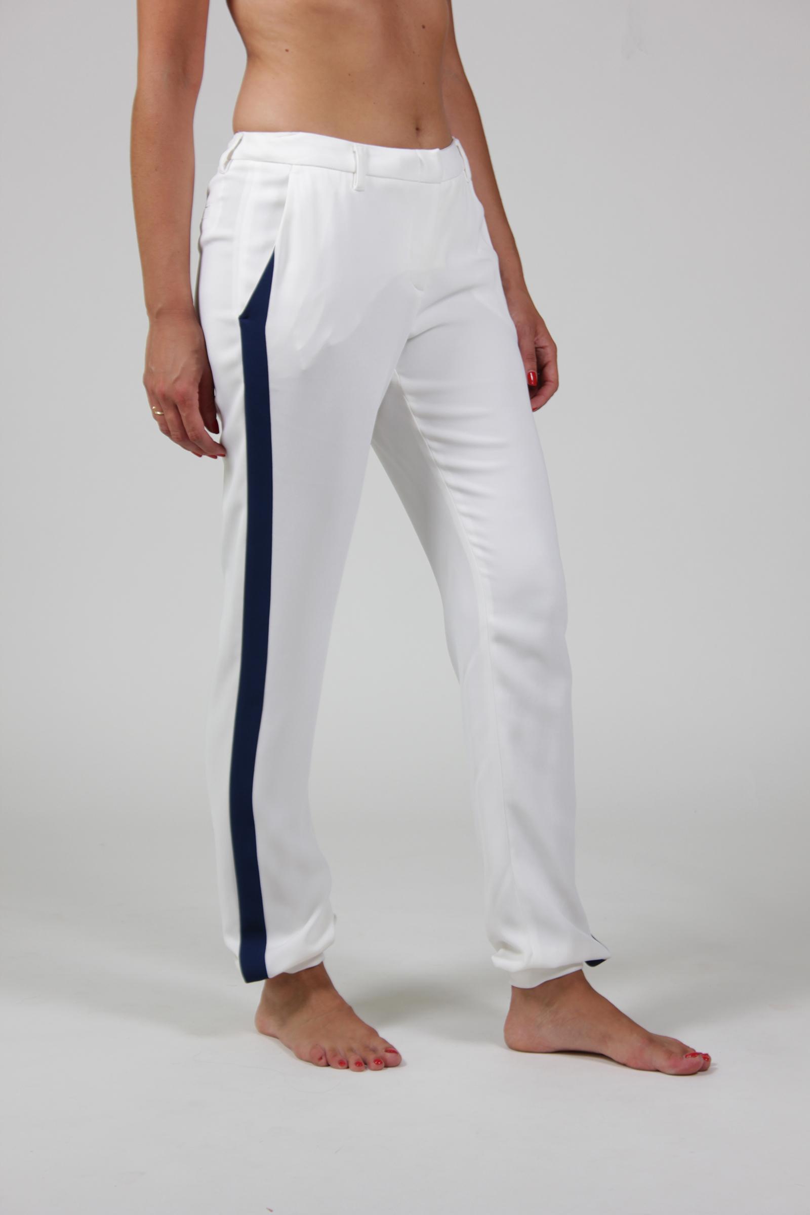 pantalone Frankie morello   16SFWPA04015015BIANCO